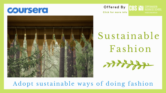 Online fashion design course - Coursera's Sustainable Fashion Course