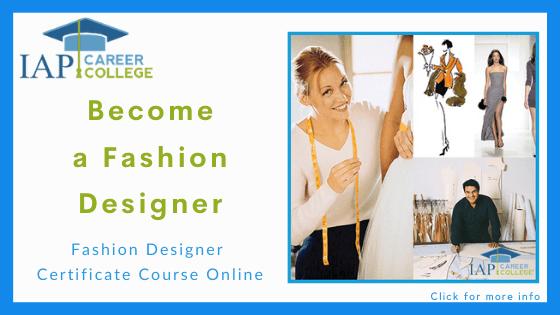Online fashion design course - IAP College's Fashion Design Course