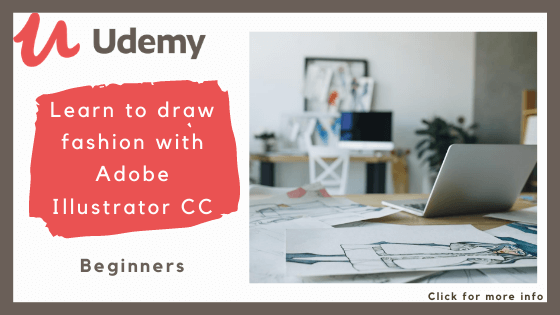 Online fashion design course - Udemy's Learn to Draw Fashion with Adobe Illustrator Course