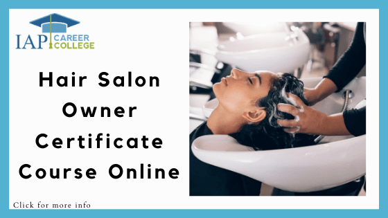 Hair Styling Courses Online - IAP College Hair Salon Owner Certificate Course Online