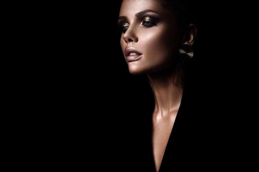 best makeup wear with a black dress