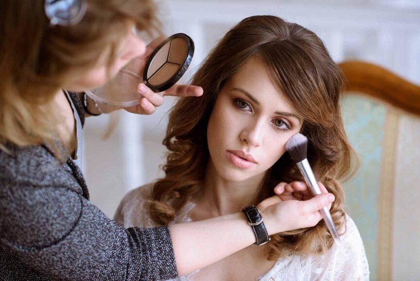bridal makeup client