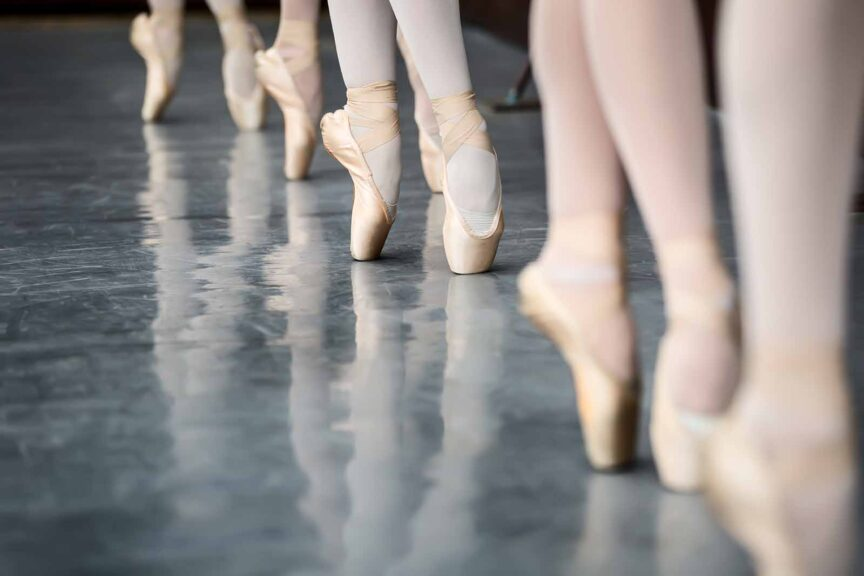 difference between ballet shoes and slippers