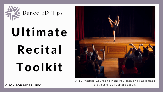 ballet course online - Get a Rounded Experience by Learning the Ultimate Recital Toolkit at Dance ED Tips