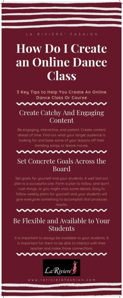 how to create an online dance class - How do I create an online dance class infographic