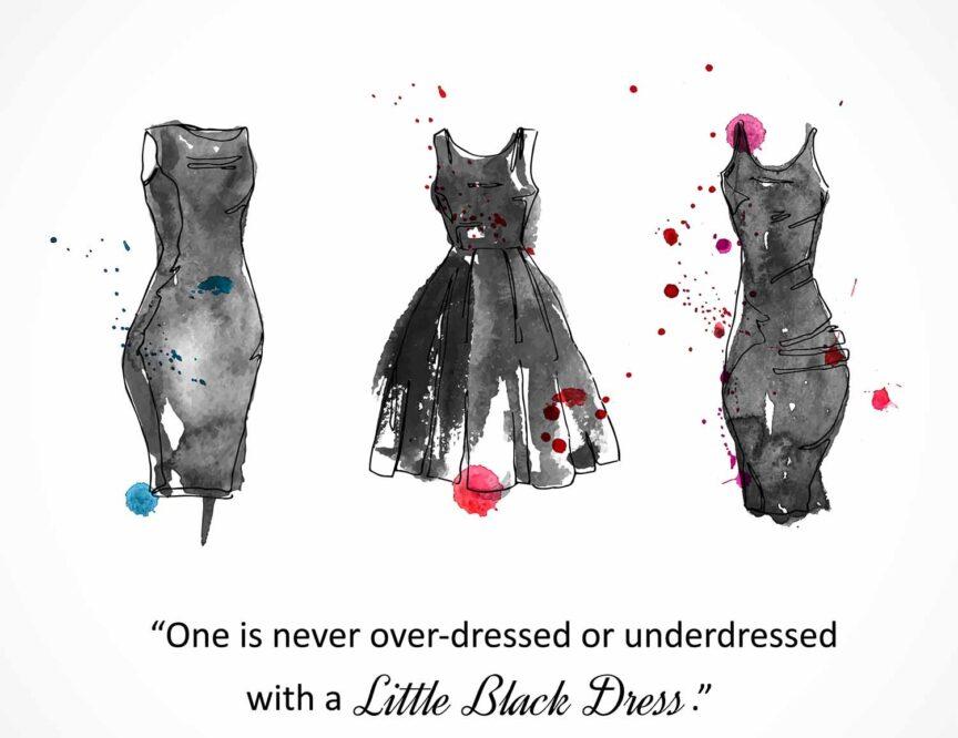 little black dress to a wedding