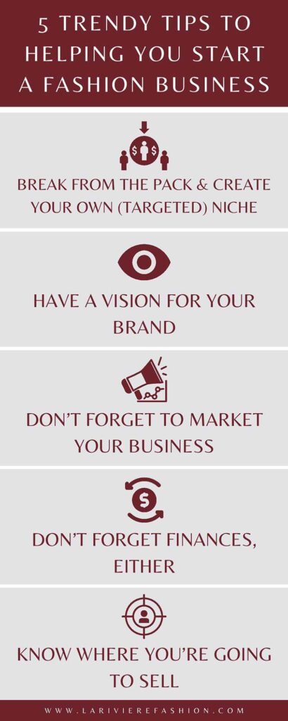 start a fashion business - infographic