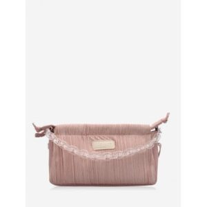 Chain Pleated Rectangle Shoulder Bag