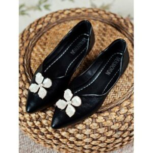 Floral Pointed Toe Flat Shoes