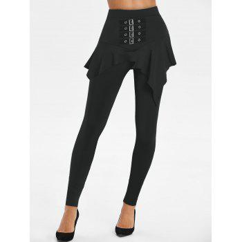 Buckled High Rise Skirted Pants
