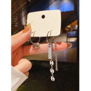 Chains C Shape Asymmetrical Earrings