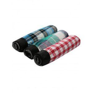 Cherlamode (Three Color) 3PCS Checked Pattern Boxer Shorts