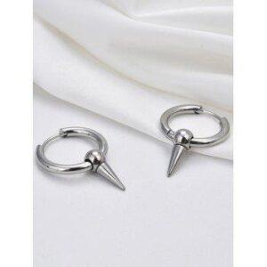 Cone Shape Stainless Steel Small Hoop Earrings