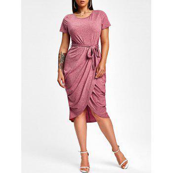 Draped Midi Bodycon Dress