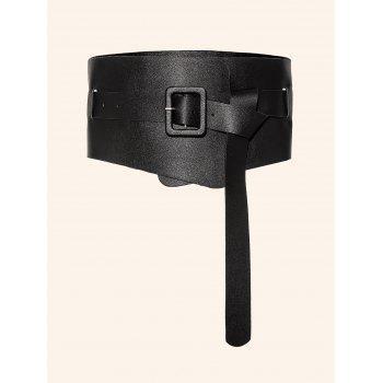 Faux Leather Knot Waist Belt