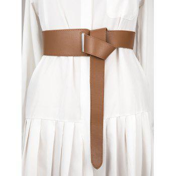 Faux Leather Wide Waist Belt