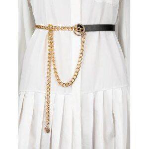 Gold-Tone Half Chain Waist Belt