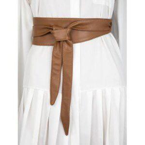 Knotted PU Leather Sash Belt