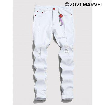 Marvel Spider-Man Ripped Tapered Jeans with Keychain