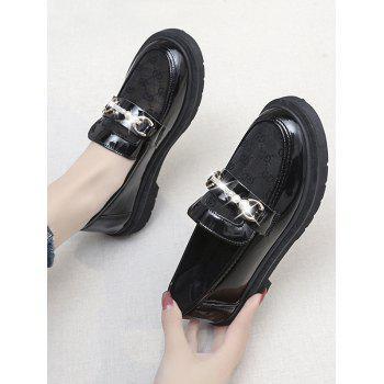 Retro Faux Pearl Rhinestone Slip On Shoes