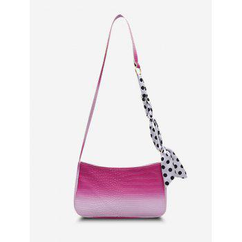 Scarf-Wrapped Embossed Ombre Crossbody Bag