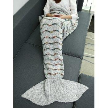 Soft Plush Stripe Sleeping Bag Wrap Mermaid Blanket