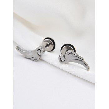 Stainless Steel Angel Wing Stud Earrings