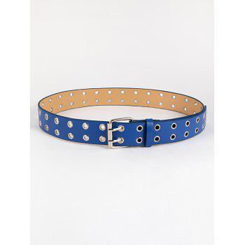 Two Row Grommet Pin Buckle Punk Belt