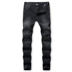 Destroy Wash Casual Long Jeans